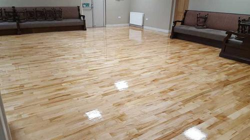 Maple Bar Floor After
