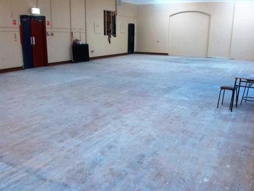 Commercial Maple Floor Before