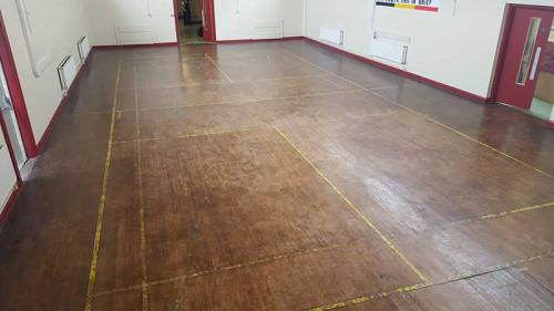 Maple Gym Floor Before