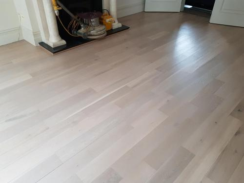 Grey Lime Wash on Oak