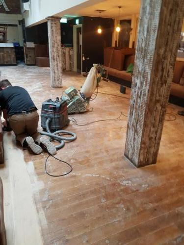 Oak Bar Floor Before