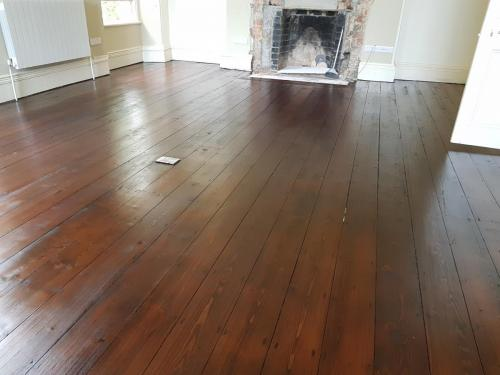 Pine After with Brown Oak Stain