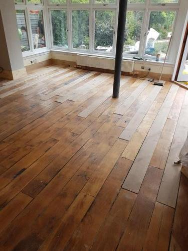 Rustic Oak Before Lime Washing